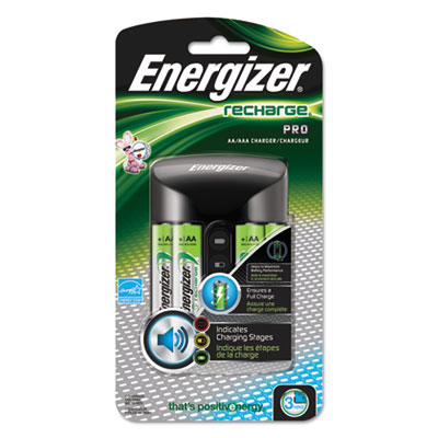 Energizer® Recharge Pro Charger with 4 AA Rechargeable Batteries