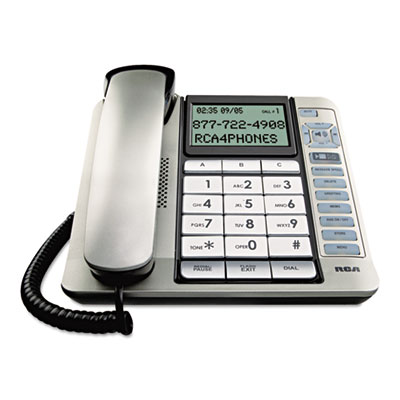 RCA® 11141BSGA One-Line Corded Phone