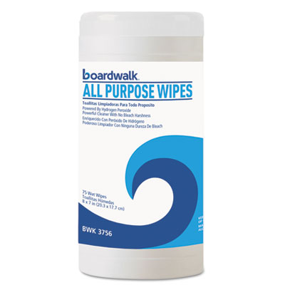 Boardwalk® Natural Multi-Purpose Hydrogen Peroxide Wipes