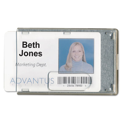 Advantus® Rigid Two-Badge Blocking Smart Card Holder