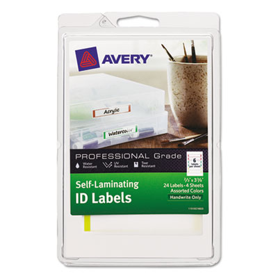Avery® Durable Self-Laminating ID Labels - 4 x 6 Sheets