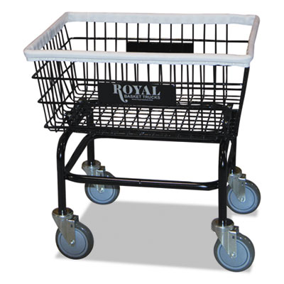 WIRE BASKET LAUNDRY CART