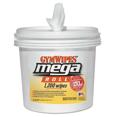 2XL Gym Wipes Mega Roll Wipes Bucket