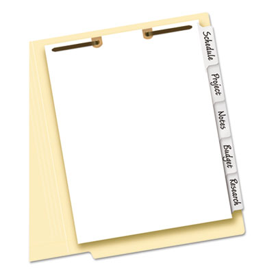 Avery® Write & Erase Tab Dividers for Classification Folders