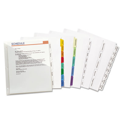 Avery® Index Maker® Print & Apply Clear Label Dividers with Double Column Tabs