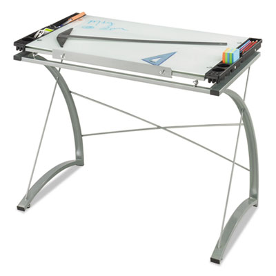Safco® Xpressions™ Glass Top Drafting Table