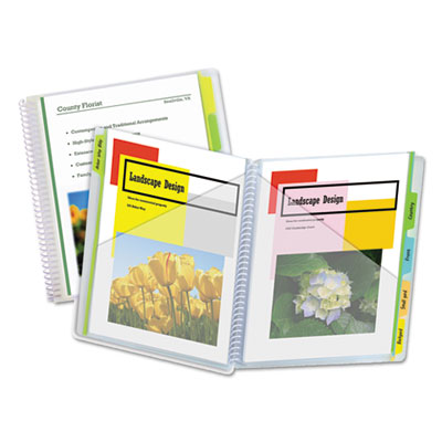 C-Line® 10-Pocket Poly Portfolio with Write-On Tabs