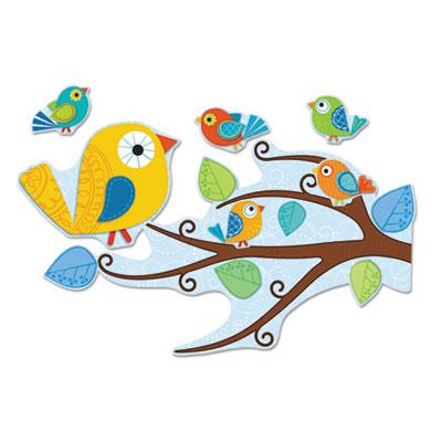Carson-Dellosa Boho Birds Bulletin Board Set
