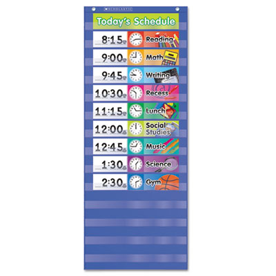 Scholastic® Daily Schedule Pocket Chart