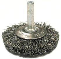 Anderson Brush Stem Mounted Flared Crimped Wire Cup Brushes-SSMF Series