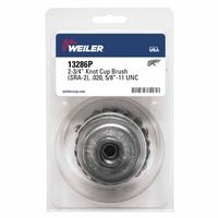 Weiler® Single Row Heavy-Duty Knot Wire Cup Brushes