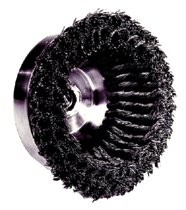 Weiler® Double Row Heavy-Duty Knot Wire Cup Brushes