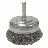 Weiler® Stem-Mounted Crimped Wire Cup Brushes