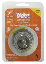 Weiler® Vortec Pro® Stem Mounted Crimped Wire Cup Brushes