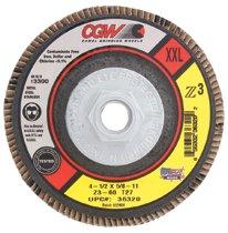 CGW Abrasives Flap Discs, Z3 -100% Zirconia, Compact