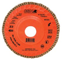 CGW Abrasives Flap Discs, Z3 Trimmable