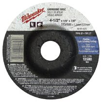 Milwaukee® Electric Tools Type 27 Reinforced Depressed Center Grinding Wheels