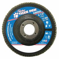Weiler® Tiger Paw™ Coated Abrasive Flap Discs