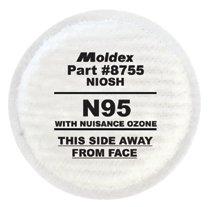 Moldex 8000 Series N95 Particulate Filters Plus Nuisance Ozone/OV
