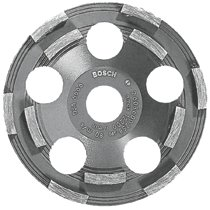 Bosch 5 In. Double Row Segmented Diamond Cup Wheel for Coating
