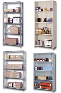 "48"" WIDE OPEN AND CLOSED SHELVING"