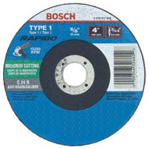 Bosch Power Tools Thin Cutting/Rapido Type 1A (ISO 41) Wheels