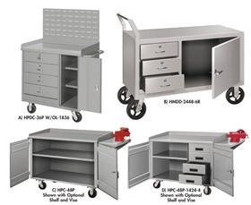 MOBILE CABINET WORKBENCHES - WITH OPTIONAL FLOOR LOCK