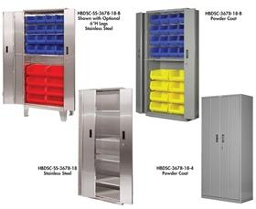 "HEAVY DUTY BI-FOLD DOOR CABINETS - WITH 6""H LEGS"