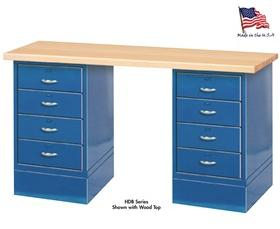 WORK BENCH WITH DRAWER CABINETS