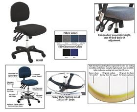 BENCHPRO™ FABRIC INDUSTRIAL CHAIRS WITH ARMS