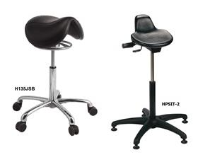SADDLE STOOL AND SIT STAND