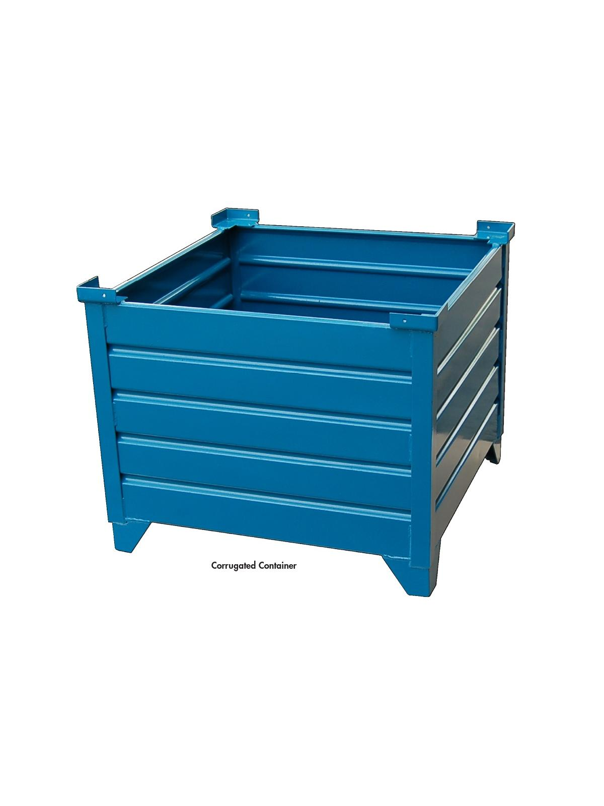 Corrugated Bulk Steel Containers At Nationwide Industrial