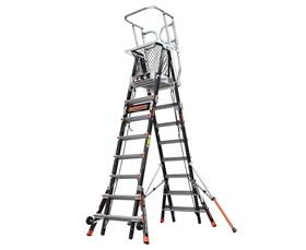 LITTLE GIANT® AERIAL SAFETYCAGE™ - ADJUSTABLE ENCLOSED PLATFORMS