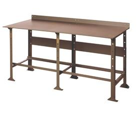 EXTRA HEAVY DUTY PLATE TOP WORK BENCH - STEEL DRAWER