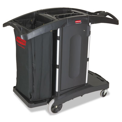 Rubbermaid® Commercial Compact Folding Housekeeping Cart