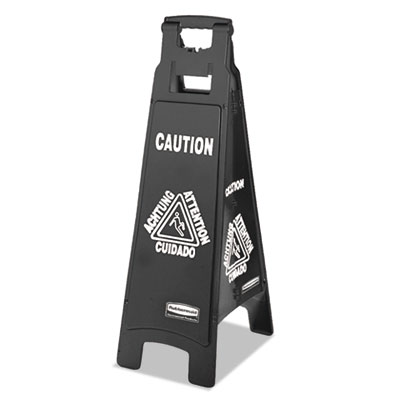 Rubbermaid® Commercial Executive 4-Sided Multi-Lingual Caution Sign