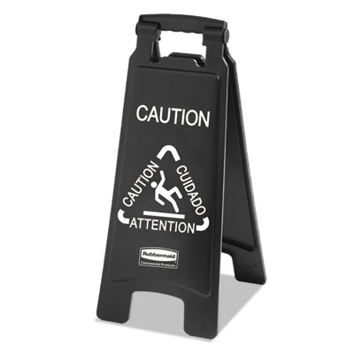 Rubbermaid® Commercial Executive 2-Sided Multi-Lingual Caution Sign