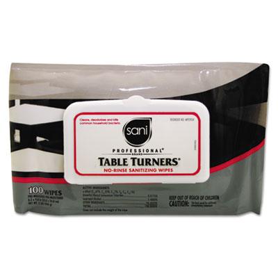 Sani Professional® Table Turners® No-Rinse Sanitizing Wipes