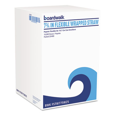 Boardwalk® Flexible Wrapped Straws