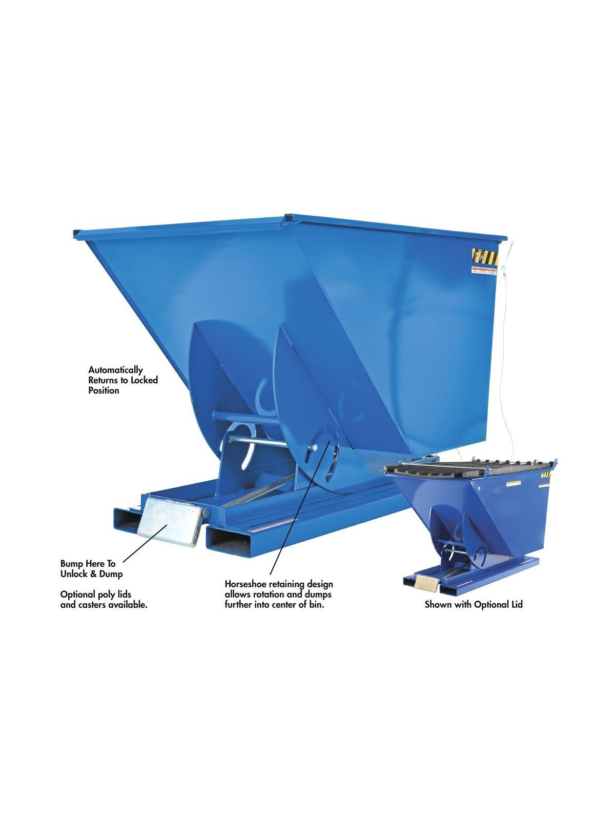 Bumper Release Dump Hopper Vestil