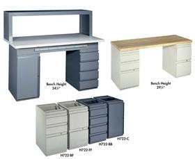 MODULAR DRAWER STYLE WORK BENCHES WITH ESD OPTION