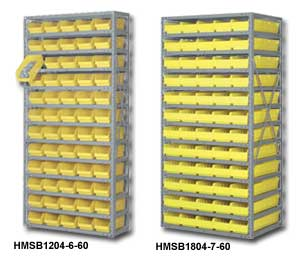 Shelf Storage Systems with Storage Bins
