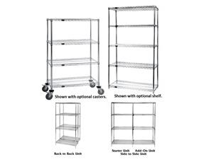 WIRE SHELVING - CHROME