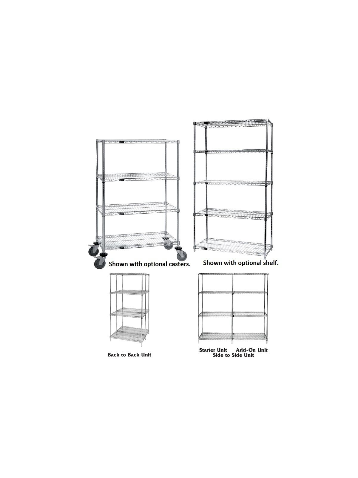 Wire shelving, Wire Shelves, FREE SHIPPING, Chrome Wire Shelving