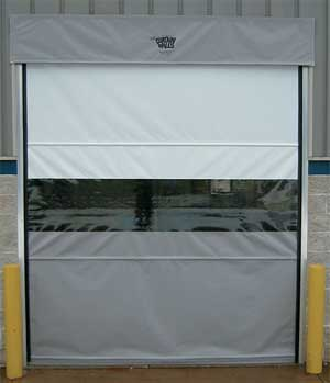 MOTORIZED VINYL ROLL-UP DOORS