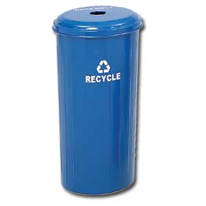 Tall Round Recycling Receptacles