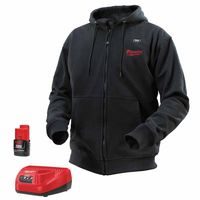Milwaukee® Electric Tools M12™ Cordless Black Heated Hoodie Kits