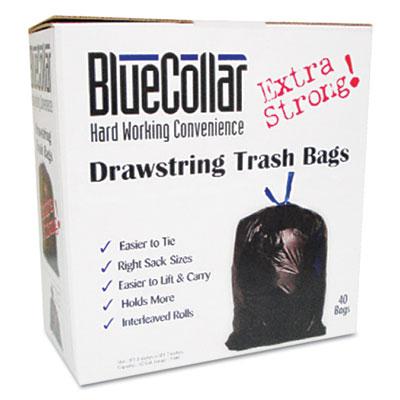 BlueCollar Drawstring Trash Bags
