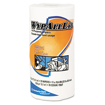 WypAll* L40 All-Purpose Cloth-Like Wipers in Regular Size Roll
