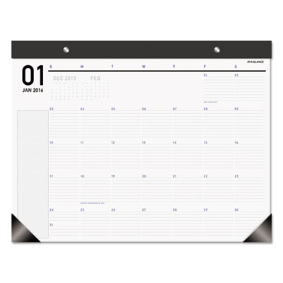 AT-A-GLANCE® Polished Professional Monthly Desk Pad